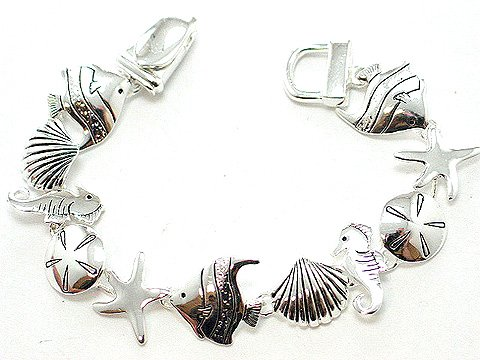 TROPICAL STAR FISH SEA HORSE BRACELET