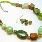 BOHO CHUNKY CERAMIC CRYSTAL SET
