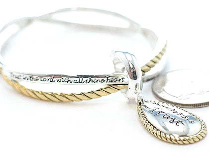 RELIGIOUS PROVERBS 3:5-6 TRUST IN THE LORD BRACELET