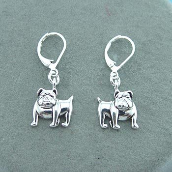NEW GEORGIA BULLDOG BULL DOG DANGLING EARRINGS