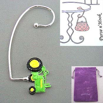 TRACTOR PURSE N' HOOK HANGER HANDBAG BAG HOLDER w/ POUCH