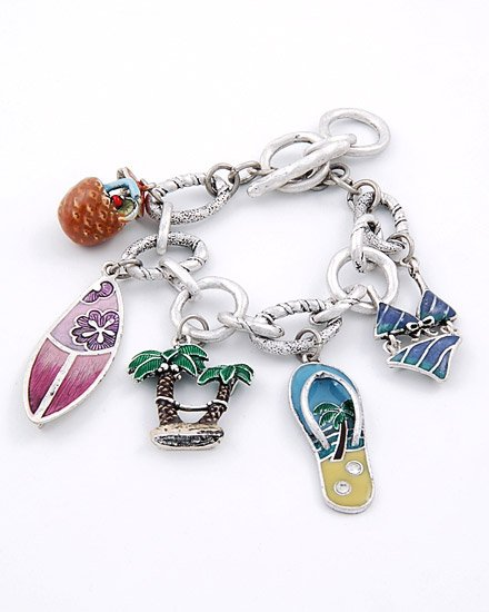 CHUNKY   FASHION BEACH THEME CHARM BRACELET