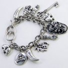 GOOD LUCK ORIENTAL FORTUNE KEY ELEPHANT DICE LEAF CHA CHA BRACELET