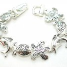 TROPICAL SEA STARFISH DOLPHIN FISH CRYSTAL BRACELET