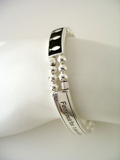 RELIGIOUS ISAIAH 43:5 FEAR NOT GOD JESUS CHRIST BIBLE BRACELET