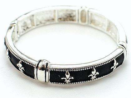 ROYAL FRENCH FLEUR DE LIS NEW ORLEANS BANGLE BRACELET