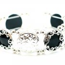 FILIGREE BLACK BANGLE BRACELET