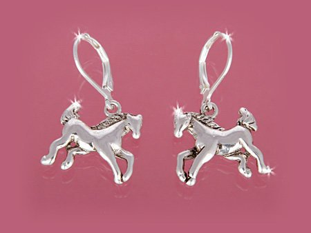 DANGLING COW GIRL COWGIRL HORSE PONY STALLION EQUESTRIAN WESTERN EARRINGS