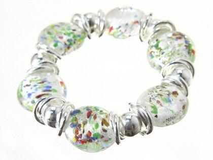 CHUNKY DESIGNER MURANO ITALIAN GLASS BEAD BRACELET