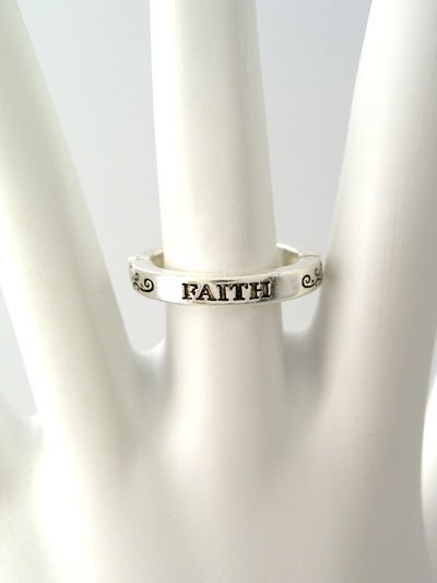 RELIGIOUS FILIGREE FAITH RING