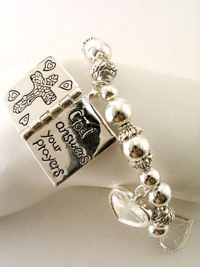 RELIGIOUS GOD ANSWERS PRAYERS JESUS CROSS BRACELET