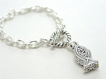 RELIGIOUS JESUS CHRIST BIBLE FISH LOCKET BRACELET