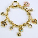RELIGIOUS GUARDIAN ANGEL WINGS HALO CRYSTAL BRACELET