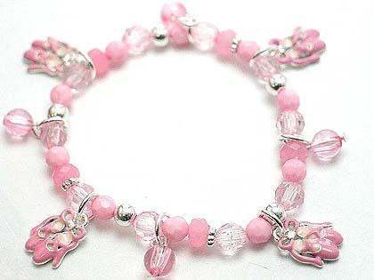 KIDS CHILD GIRLS BALLET BALLERINA SHOE BEAD BRACELET