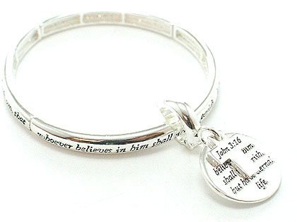 RELIGIOUS JOHN 3:16 FOR GOD SO LOVED WORD BRACELET