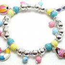 KIDS CHILDRENS CHILDS BEACH BALL BEAD BRACELET
