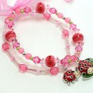 KIDS CHILDRENS CHILDS LADYBUG LADY BUGS BEAD BRACELET