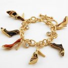 LADIES SHOP CRYSTAL SHOE SHOES HEELS BRACELET