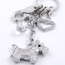 3D SCOTTISH TERRIER DOG LOVER TRAINER CRYSTAL KEYCHAIN