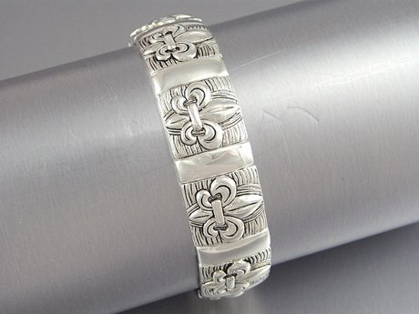 FRENCH ROYAL FLEUR DE LIS NEW ORLEANS SAINTS BRACELET