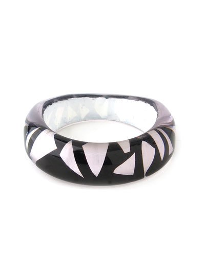 HOT RETRO EURO STYLE BLACK WHITE BANGLE BRACELET