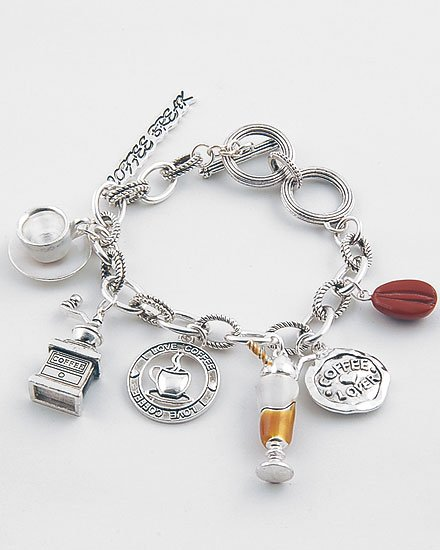 3D  I LOVE COFFEE LOVER BREAK ESPRESSO BRACELET
