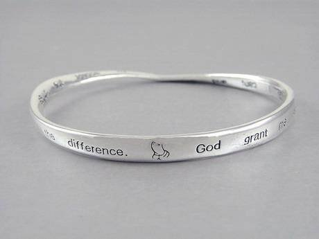 SERENITY PRAYER ALCOHOLICS ANONYMOUS AA QUOTE BRACELET