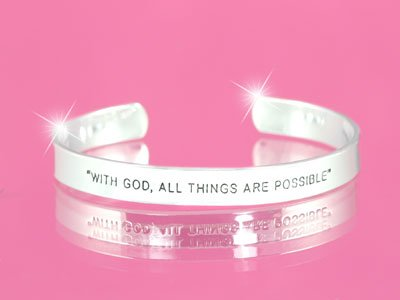 RELIGIOUS MATTHEW 19:26 GOD ALL THINGS POSSIBLE BANGLE