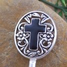 NEW HOT BLACK RELIGIOUS CROSS PURSE N' HOOK HANDBAG HANGER
