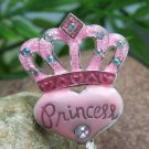 PINK VALENTINES DAY PRINCESS HEART PURSE HOOK HANDBAG HOLDER