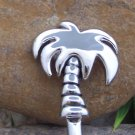 Tropical Antique Silver Tone Palm Tree Handbag Holder Caddy Hook