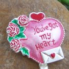 RED VALENTINES DAY HEART LOVE PURSE HOOK HANDBAG HOLDER