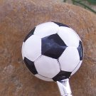 Soccer Ball Soccerball Silver Tone Handbag Purse Hook Caddy Holder