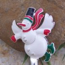 CHRISTMAS FROSTY SNOWMAN PURSE N' HOOK HANGER HANDBAG BAG HOLDER w/ POUCH