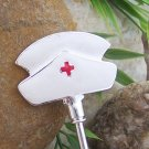 NURSE HAT PURSE N' HOOK HANGER HANDBAG BAG HOLDER w/ POUCH