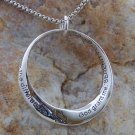 SERENITY PRAYER ALCOHOLICS ANONYMOUS AA QUOTE NECKLACE