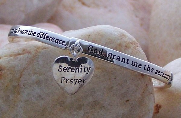 SERENITY PRAYER ALCOHOLICS ANONYMOUS AA QUOTE RECOVERY BRACELET