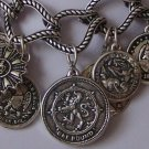 NEW ANTIQUE STYLE FRENCH REPLICA COIN NECKLACE SET
