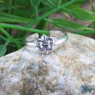 NEW 925 STERLING SILVER FLEUR DE LIS ORLEANS TOE RING