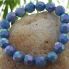 NEW BLUE FACETED BEAD BRACELET