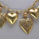 HEART LOVE PEARL 3D VALENTINES DAY CHARM NECKLACE SET