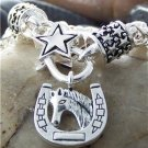 NEW WESTERN COWGIRL HORSE HORSESHOE TEXAS STAR BRACELET