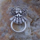 NEW GUARDIAN ANGEL CRYSTAL ID EYE GLASS HOLDER BROOCH