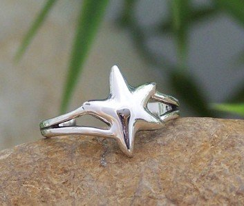 NEW 925 STERLING SILVER STAR FISH STARFISH TOE RING
