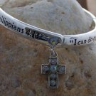 NEW RELIGIOUS PHILIPPIANS 4:13 CAN DO CROSS BRACELET