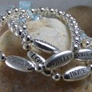 NEW BLUE RIBBON HUMANITY HONOR LOVE FAMILY BRACELET