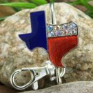 NEW WESTERN TEXAS STAR CRYSTAL PURSE KEYCHAIN FINDER