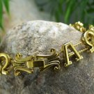 NEW RELIGIOUS ANTIQUE STYLE BIBLE ALPHA OMEGA BRACELET