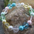 NEW MULTI COLOR FAUX PEARL BEAD BANGLE BRACELET