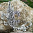 NEW FRENCH FLEUR DE LIS ORLEANS PURSE KEYCHAIN FINDER
